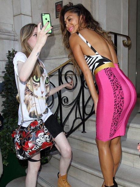 Nicole Scherzinger and a fan