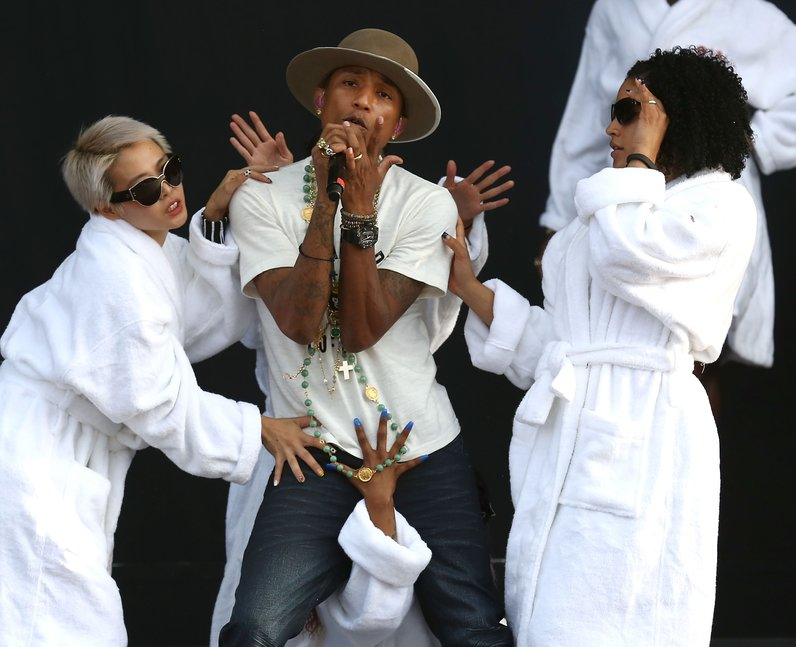 Pharrell At Wireless Festival 2014