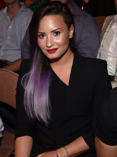 Demi Lovato attends the UFC 175 event in Las Vegas
