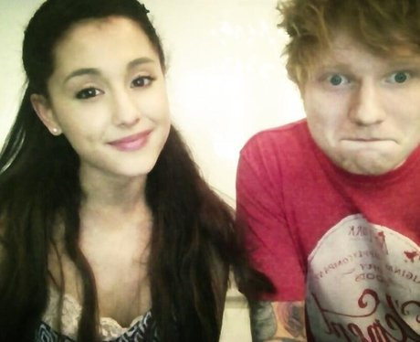 Ariana Grande and Ed Sheeran