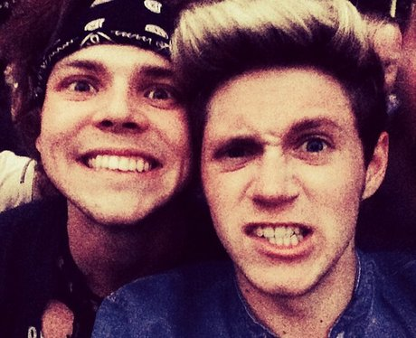 Ashton Irwin and Niall Horan
