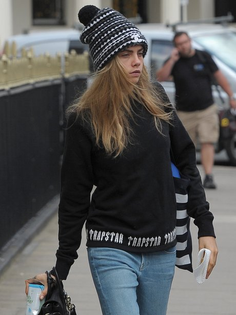 Cara Delevingne is seen leaving her London home.