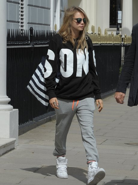 Cara Delevingne seen wearing a tracksuit