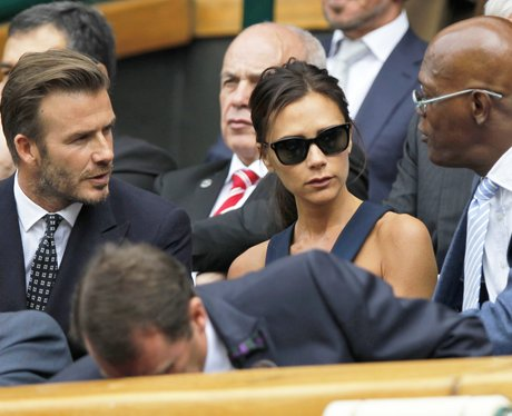 David and Victoria Beckham at Wimbledon
