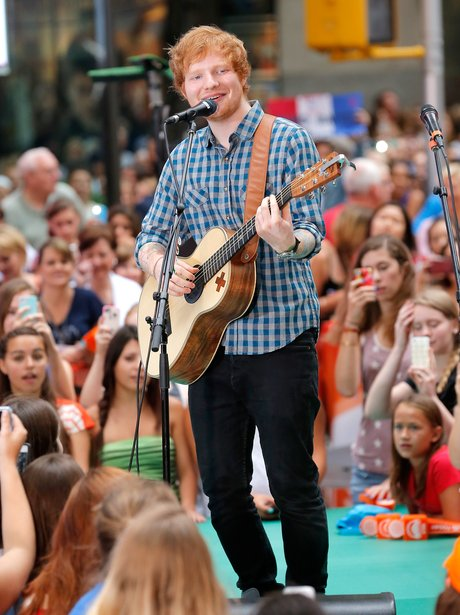 Ed Sheeran performs on 'Today' in NYC