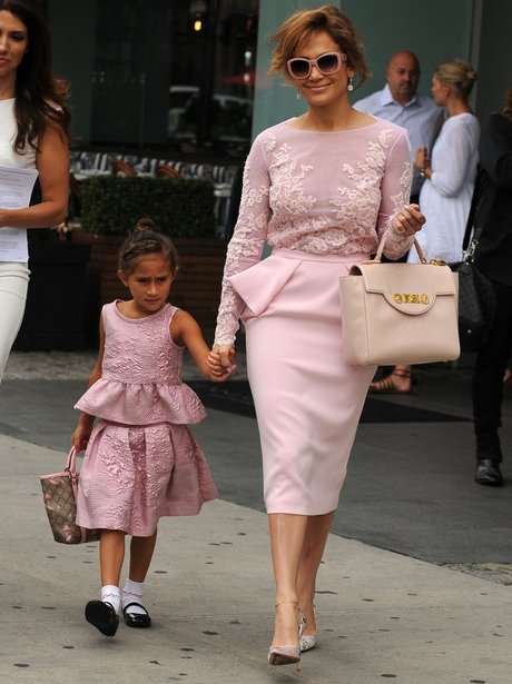 Jennifer Lopez seen with daughter in New York