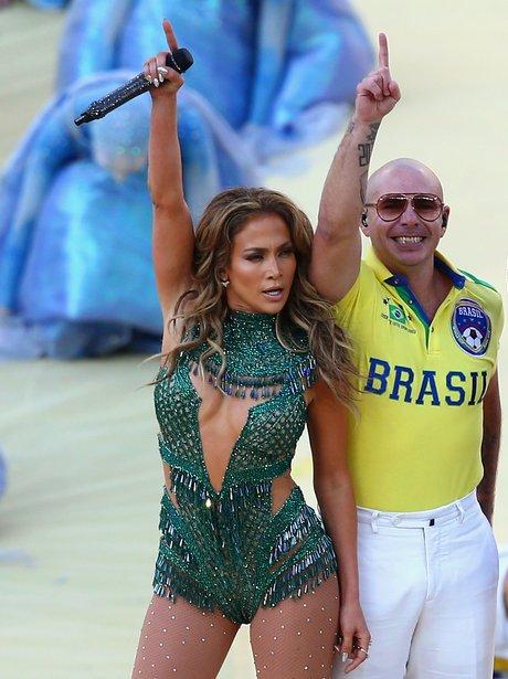 Jennifer Lopez and Pitbull world cup