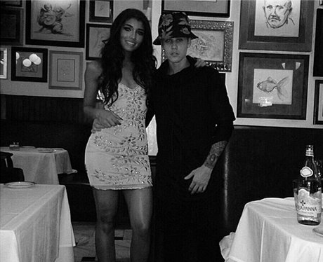 Justin Bieber out for dinner with his girlfriend