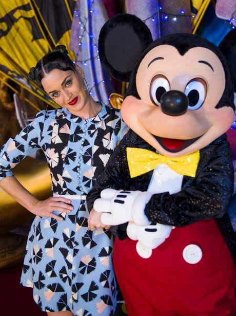 Katy Perry with Mickey Mouse in Florida
