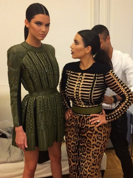 Kendal Jenner and Kim Kardashian in Paris together