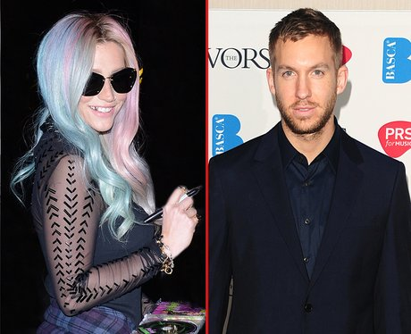 Kesha and Calvin Harris
