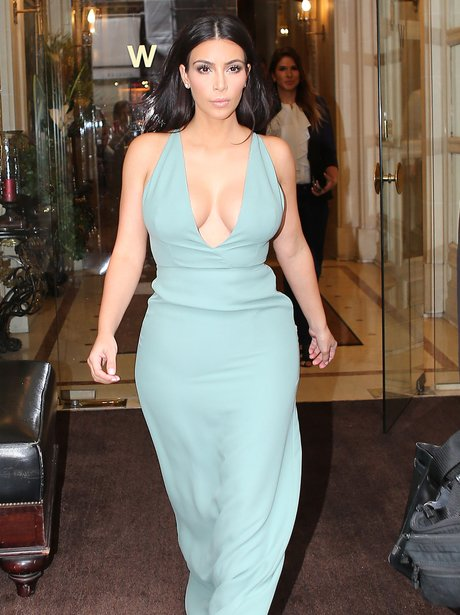 Kim Kardashian seen in out Paris