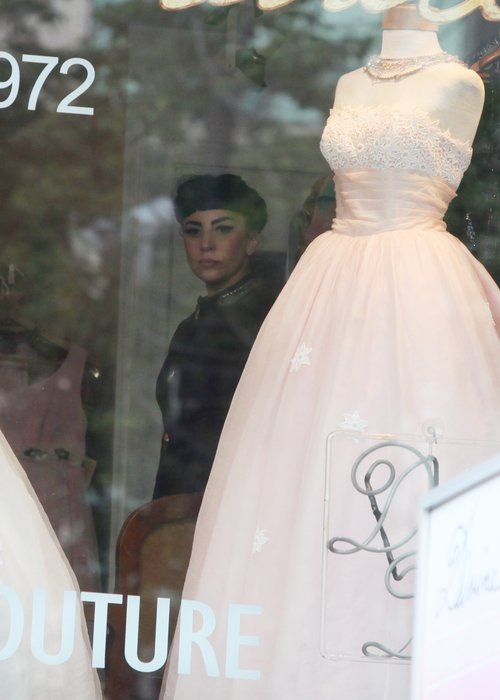7e0c8e43730 Is Gaga Getting Married? The Mother Monster's Been Spotted Wedding Dress  Shopping!