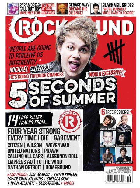 5SOS cover Rock Sound Magazine