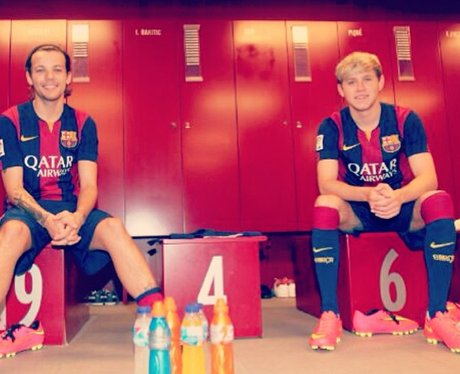 Niall Horan and Louis Tomlinson in Barcelona