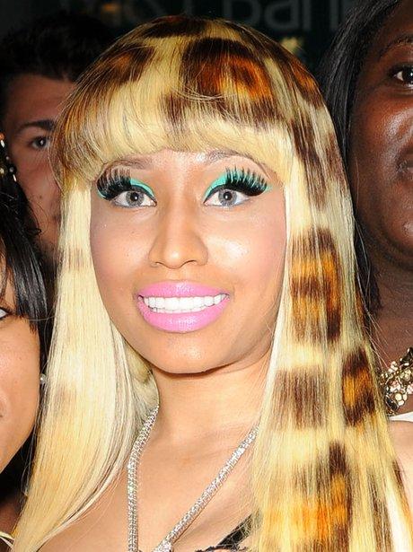 Nicki Minaj in 2011 with strange makeup