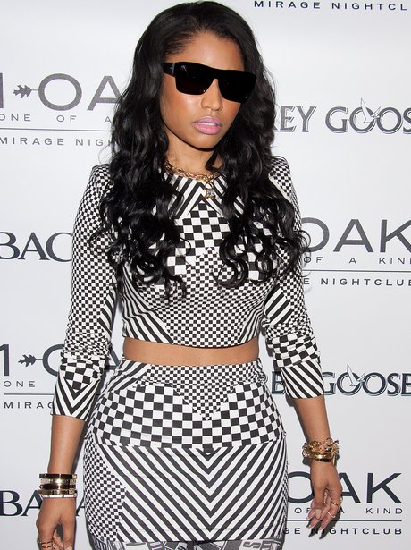 Nicki Minaj in Las Vegas wearing monochrome