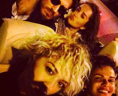 Rita Ora out in LA wearing fake beard
