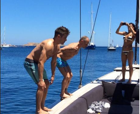 Zac Efron Topless Backflip