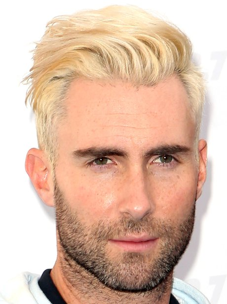 Adam Levine with bleach blond hair