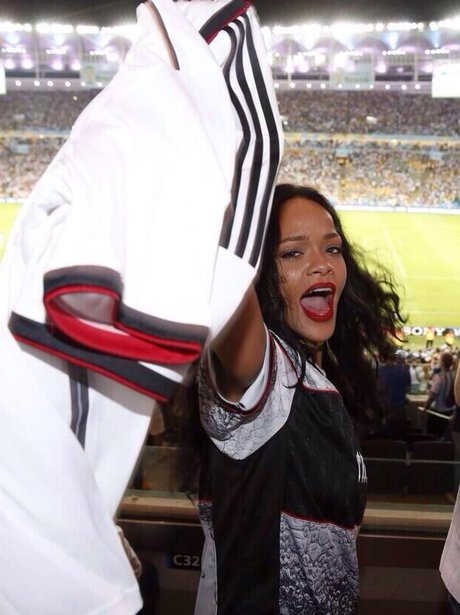 Rihanna at the World Cup Final 2014