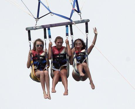 Cara Delevingne and Selena Gomez Parasailing
