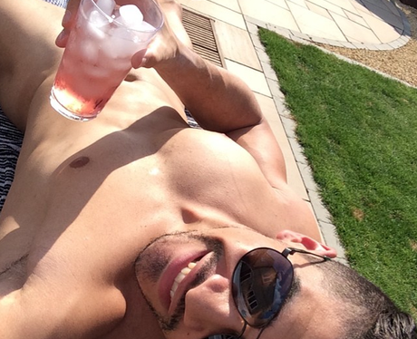Louis Smith sunbathing naked