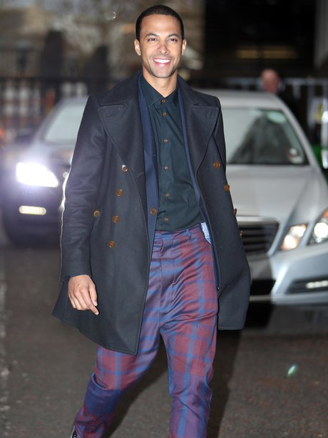 Marvin Humes wearing tartan trousers