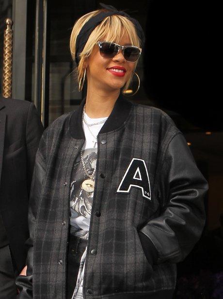Rihanna Tartan Bomber Jacket