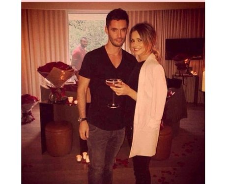 Cheryl Cole photo bombed by Ashley Cole