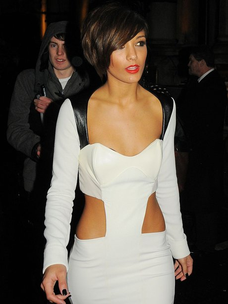 Frankie Sandford in cut out dress