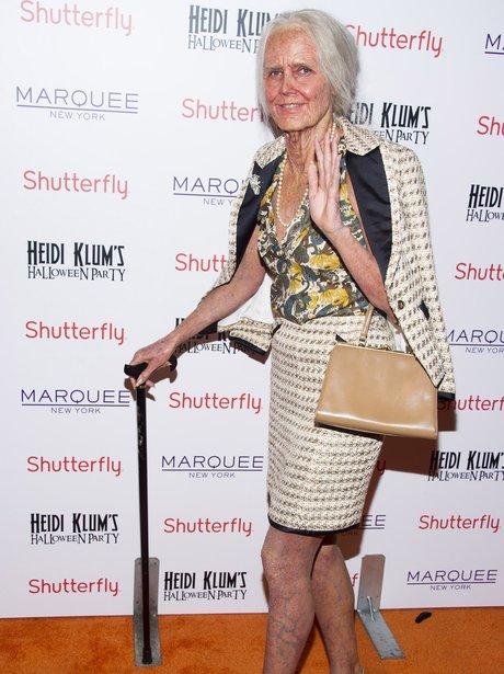 Heidi Klum dressed as an old lady