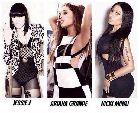 Jessie J Ariana Grande And Nicki Minaj Instagram
