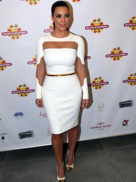 Kim Kardashian in a cut out dress