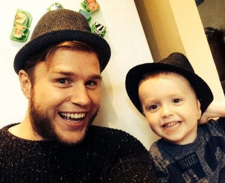 Olly Murs and Nephew Wearing Trilbys