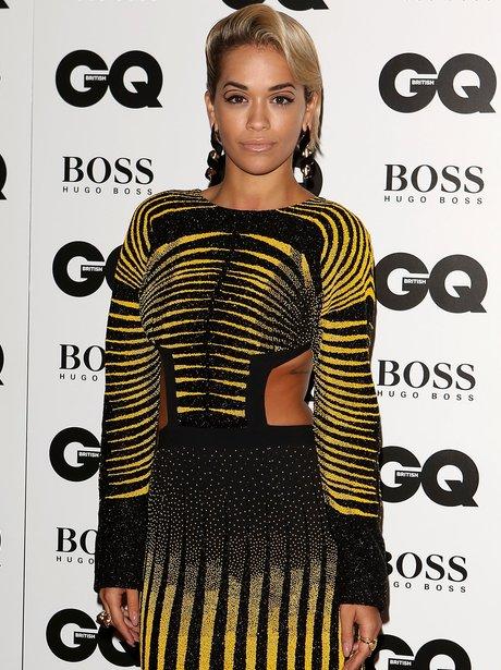 Rita Ora in cut out dress