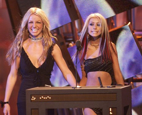 Britney Spears and Christina Aguilera at th