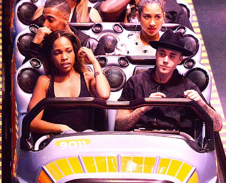 Justin Bieber and Friends on a rollercoster