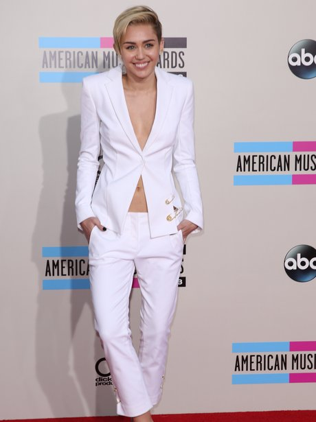Miley Cyrus in white
