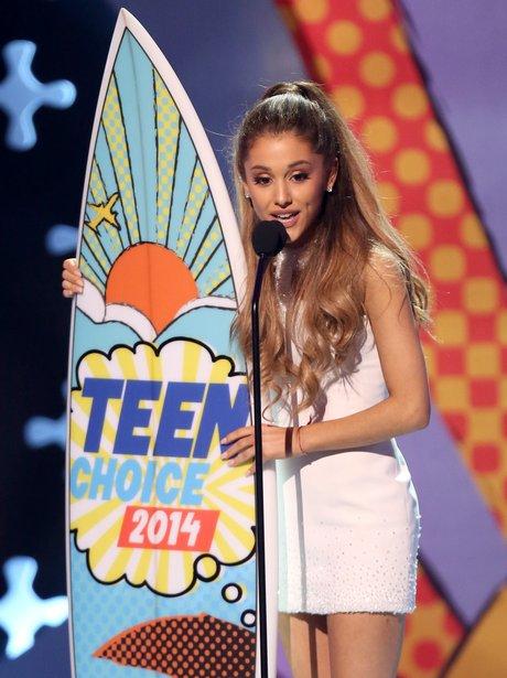 Ariana Grande at the Teen Choice Awards 2014