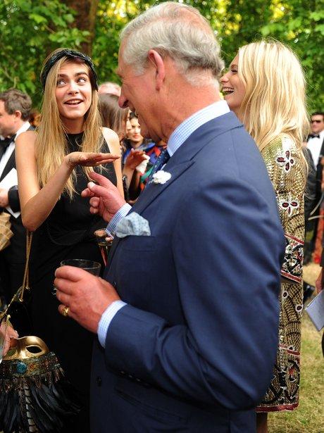 Cara Delevingne and Prince Charles