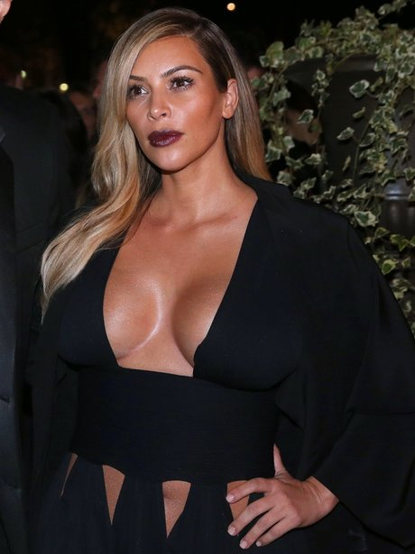 Kim Kardashian Low Cut Top