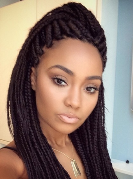 Liegh Anne Pinnock with braided hair