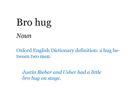Pop Dictionary: Bro Hug