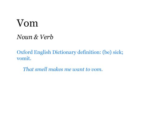Pop Dictionary: Vom