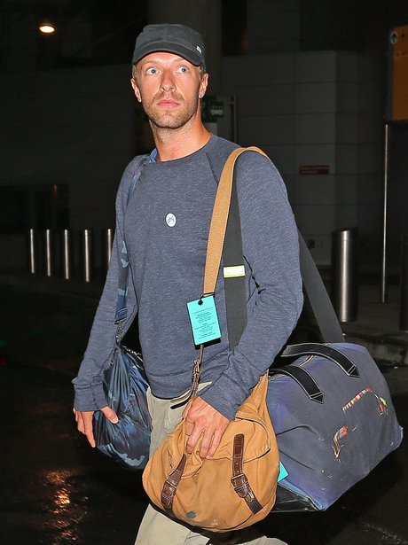 Chris Martin at JFK airport