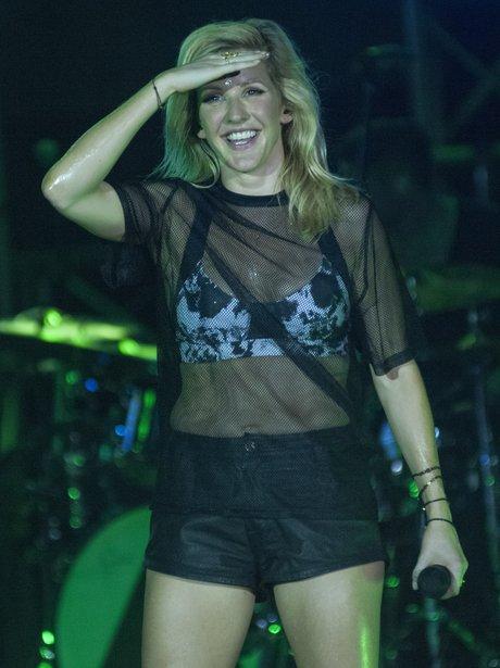 Ellie Goulding performs in Bali