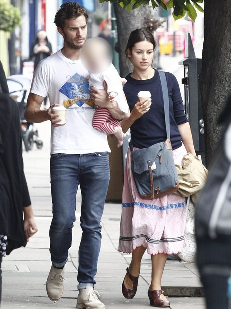 Jamie Dornan wife Amelia and daughter in London