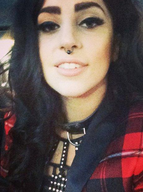 Lady Gaga wears a nose ring selfie instagram
