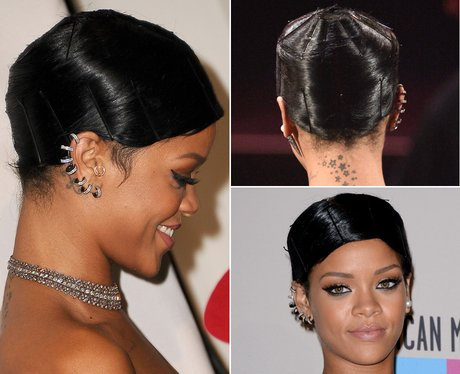 Rihanna Hair Up